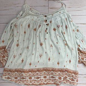 Maurices Off the Shoulder Boho Top Sz 1X